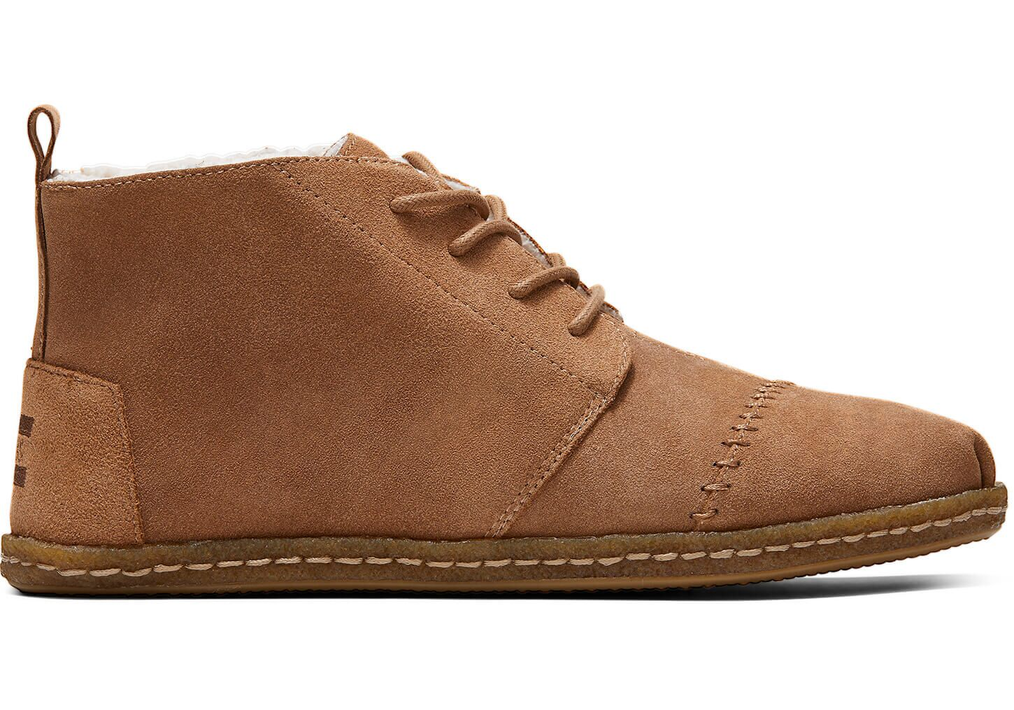Men's Toffee Suede Faux Shearling Boots