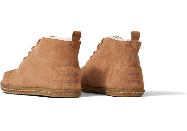 TOMS - Men's  Toffee Suede Faux Shearling Boots