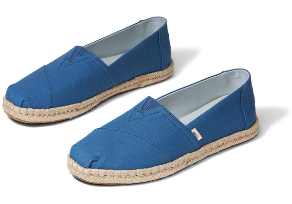 TOMS - Women's Earthwise Collection Plant Dye Indigo Canvas Espradrilles Slip-Ons