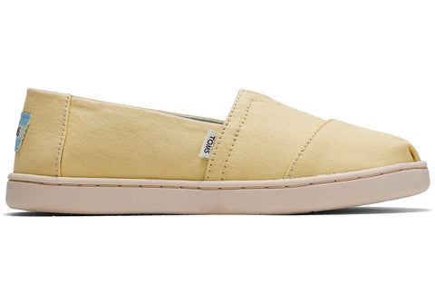 TOMS - Youth Classics Plant Dye Yellow Canvas Slip-Ons