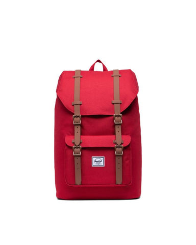 Herschel Supply Co. - Little America Mid Volume Red Saddle Brown Backpack
