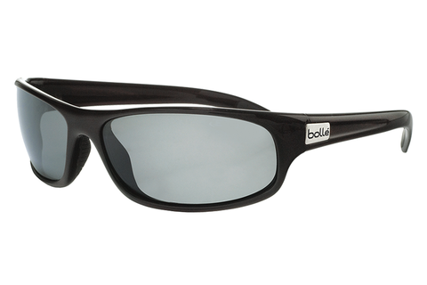 Bolle Anaconda Shiny Black Sunglasses, TNS Oleo AF Polarized Lenses