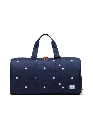 Herschel Supply Co. - Novel Mid Volume Polka Dot Crosshatch Peacoat Duffel Bag