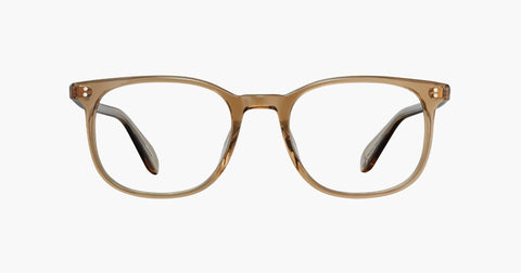 Garrett Leight - Bentley Bottle Glass Brown Eyeglasses / Demo Lenses
