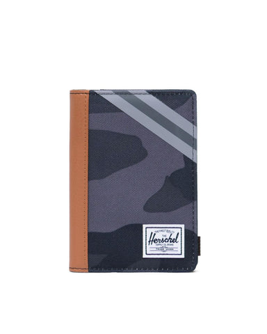 Herschel Supply Co. - Night Camo Synthetic Leather Stripe Grey Black Passport Case