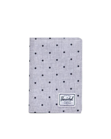 Herschel Supply Co. - Raynor Polka Dot Crosshatch Grey Black Passport Case