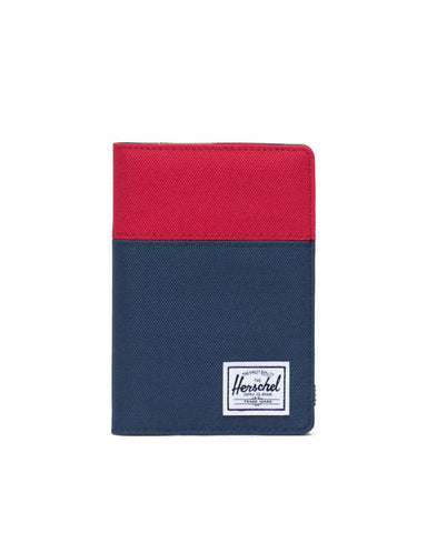 Herschel Supply Co. - Raynor Red Navy Woodland Camo Passport Case