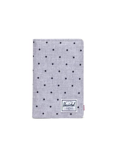 Herschel Supply Co. - Search Polka Dot Crosshatch Grey Black Passport Case