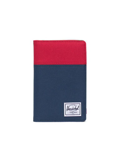 Herschel Supply Co. - Search Red Navy Woodland Camo Passport Case