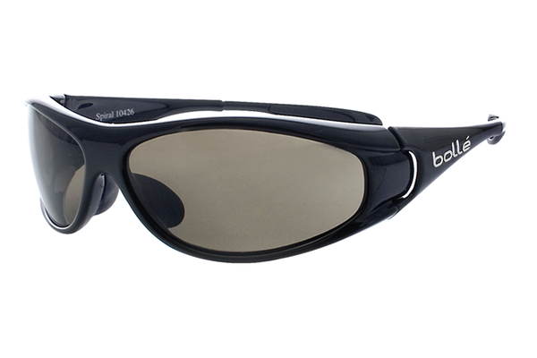 Bolle - Spiral Shiny Black Sunglasses, TNS Lenses