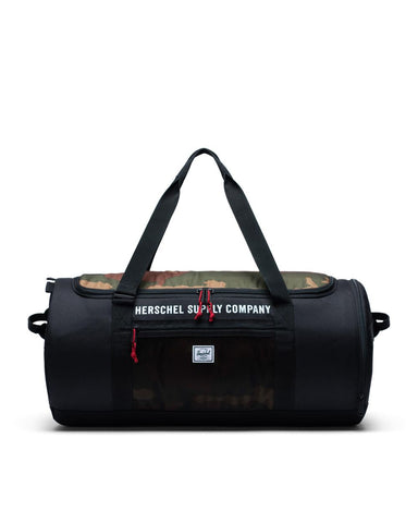 Herschel Supply Co. - Sutton Black Woodland Camo Athletics Duffel Bag