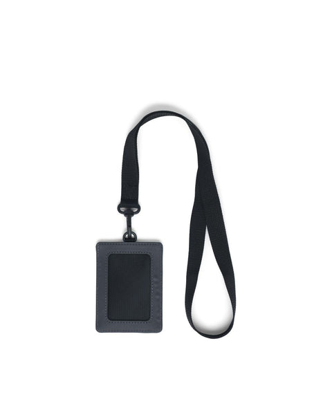 Herschel Supply Co. - Charlie Lanyard Black Reflective Silver Reflective Wallet