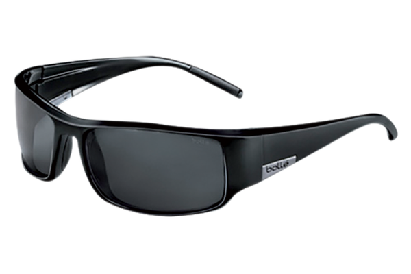 Bolle - King Shiny Black Sunglasses, TNS Oleo AF Polarized Lenses