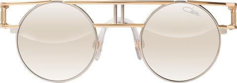 Cazal - 958 46mm Bicolour Sunglasses / Grey Silver Mirror Lenses