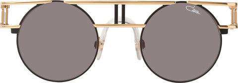 Cazal - 958 46mm Black Gold Sunglasses / Grey Lenses