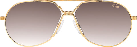Cazal - 968 62mm Gold Sunglasses / Brown Gradient Lenses