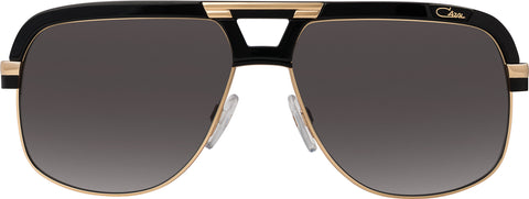 Cazal - 986 63mm Black Gold Sunglasses / Grey Lenses
