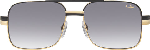 Cazal - 988 57mm Black Gold Sunglasses / Grey Gradient Lenses
