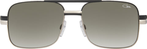 Cazal - 688 57mm Matte Black Silver Sunglasses / Green Gradient Lenses