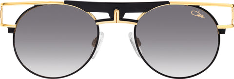 Cazal - 989 50mm Black Gold Sunglasses / Grey Gradient Lenses