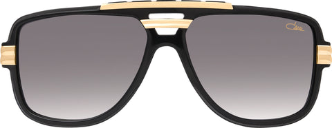 Cazal - 8037 61mm Black Gold Sunglasses / Grey Gradient Lenses