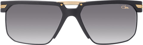 Cazal - 9072 61mm Matte Black Gold Sunglasses / Grey Gradient Lenses