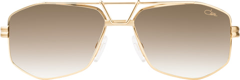 Cazal - 9073 61mm Gold Sunglasses / Brown Gradient Lenses