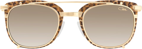 Cazal - 9077 50mm Leopard Gold Sunglasses / Brown Gradient Lenses
