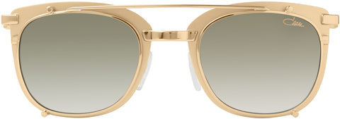 Cazal - 9077 50mm Gold Sunglasses / Green Gradient Lenses