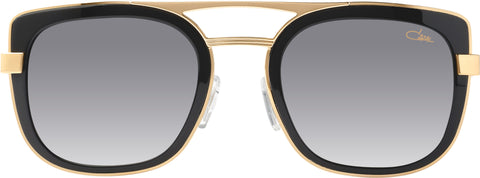Cazal - 9078 54mm Black Gold Sunglasses / Grey Gradient Lenses