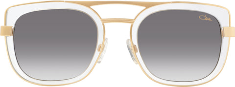 Cazal - 9078 54mm Crystal Gold Sunglasses / Grey Gradient Lenses