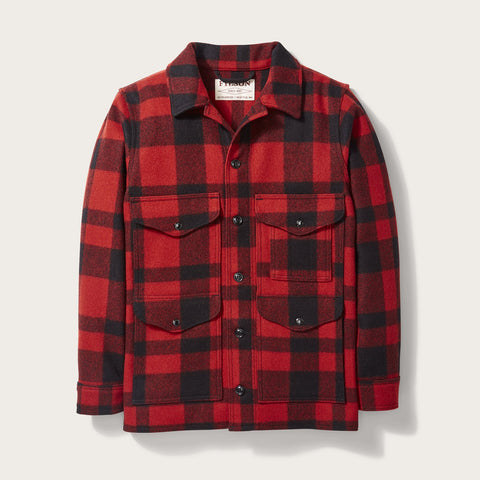 Filson - Mackinaw Wool Red Black Cruiser Jacket