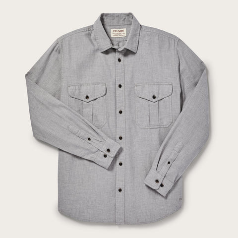 Filson - Lightweight Alaskan Heather Gray Regular Guide Shirt