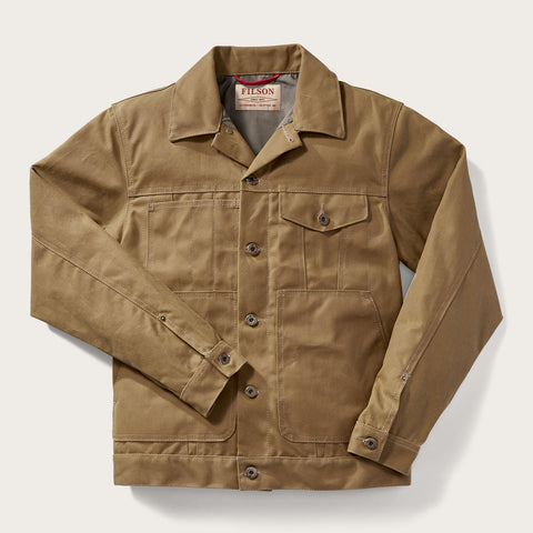 Filson - Tin Cloth Short Lined Dark Tan Cruiser Jacket