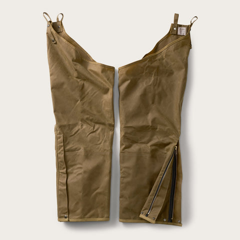 Filson - Double Dark Tan Tin Cloth Zipped Chaps