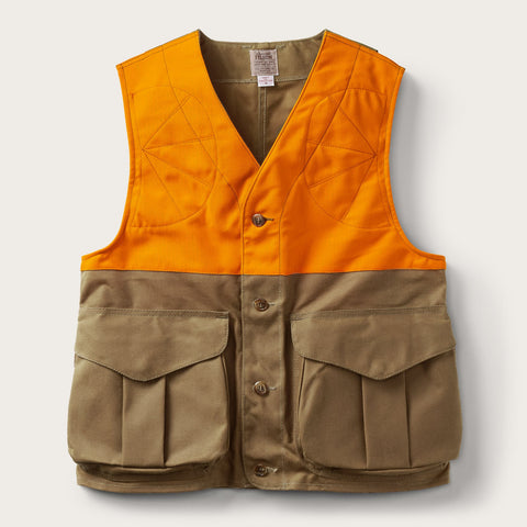 Filson - Upland Tan Blaze Orange Hunting Vest