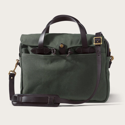 Filson - Rugged Twill Original Otter Green Brass Briefcase