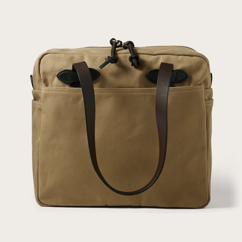 Filson - Rugged Twill Tan Brass With Zipper Tote