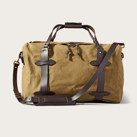 Filson - Rugged Twill Tan Brass Medium Duffel Bag