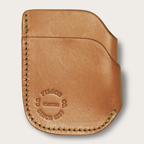 Filson - Bridle Tan Leather Front Pocket Cash Card Case