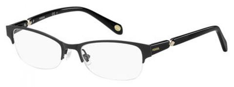 Fossil - Fos 7000 53mm Matte Black Eyeglasses / Demo Lenses