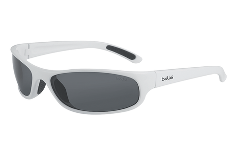 Bolle - Anaconda Jr. Shiny White Sunglasses, TNS Lenses