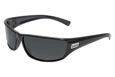 Bolle - Python Shiny Black Sunglasses, TNS Oleo AF Polarized Lenses