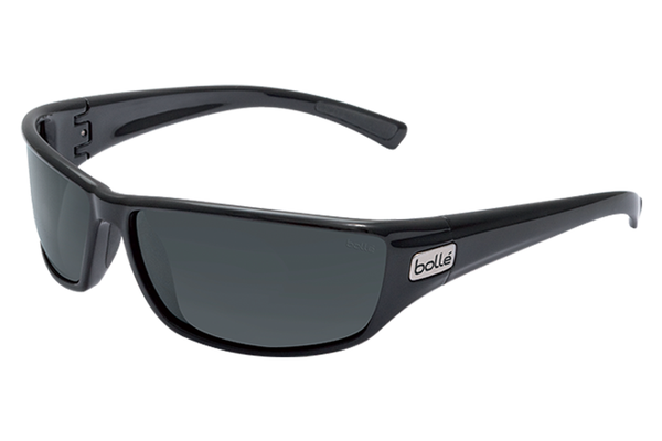 Bolle - Python Shiny Black Sunglasses, TNS Lenses