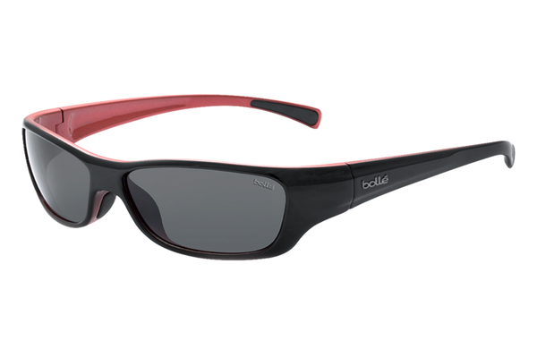 Bolle - Crown Jr. Black/Red Sunglasses, TNS Lenses