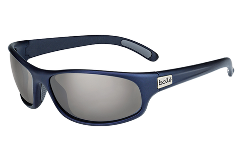 Bolle - Anaconda Matte Blue Sunglasses, TNS Gun Oleo AF Polarized Lenses
