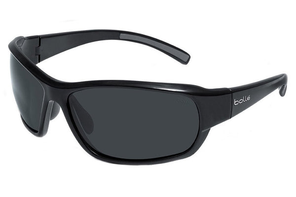 Bolle - Bounty Shiny Black Sunglasses, TNS Lenses