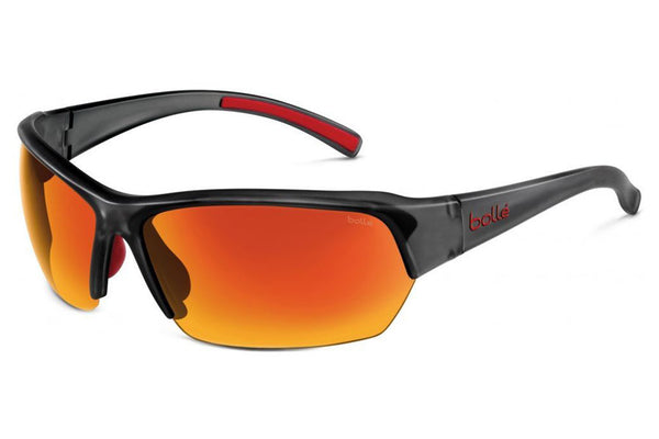 Bolle - Ransom Satin Crystal Gray Sunglasses, TNS Fire Oleo AF Polarized Lenses