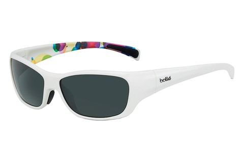 Bolle - Crown Jr. Shiny White/Bubbles Sunglasses, TNS Lenses