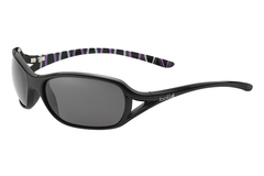 Bolle - Solden Shiny Black / Bamboo Sunglasses, TNS Lenses